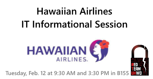 Hawaiian Airlines IT Information Session Flyer