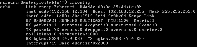 Running ifconfig command