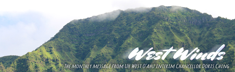 West Winds - The monthly message from Interim Chancellor Doris Ching