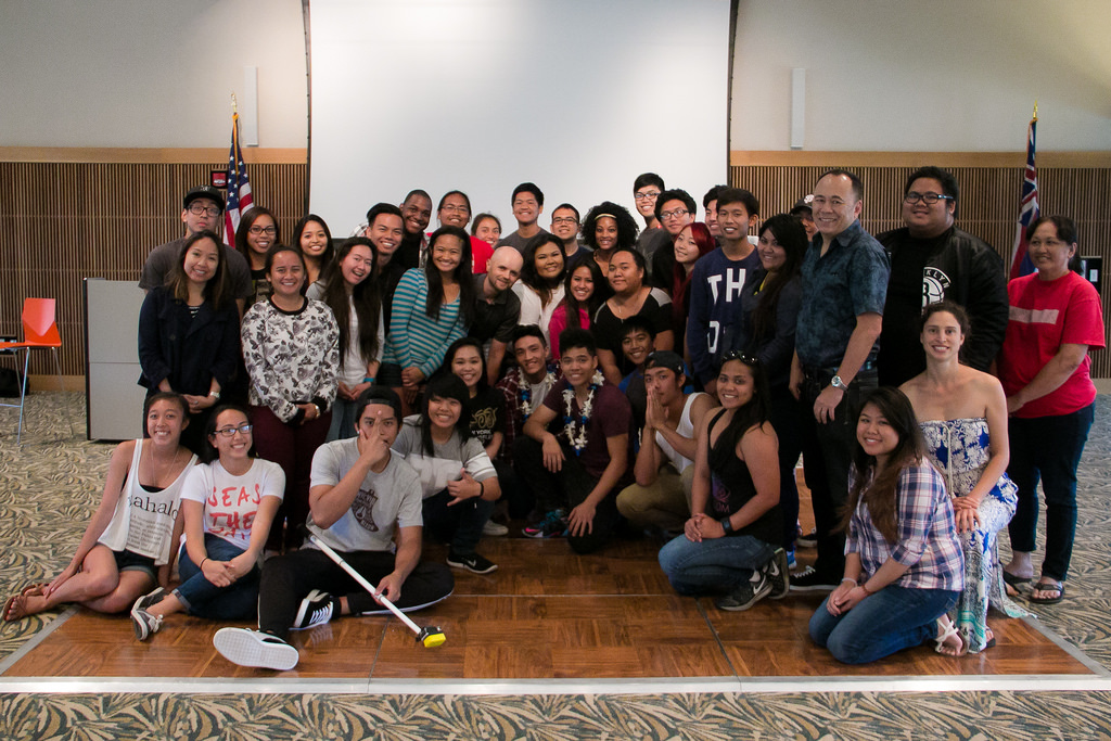 UHWO students pose for group shot