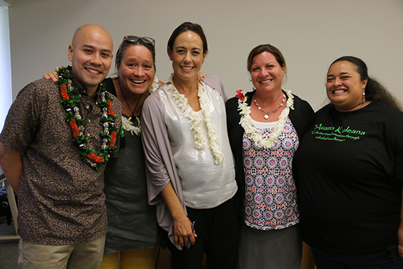 Dr. Samuel Museus with UHWO staff group shot