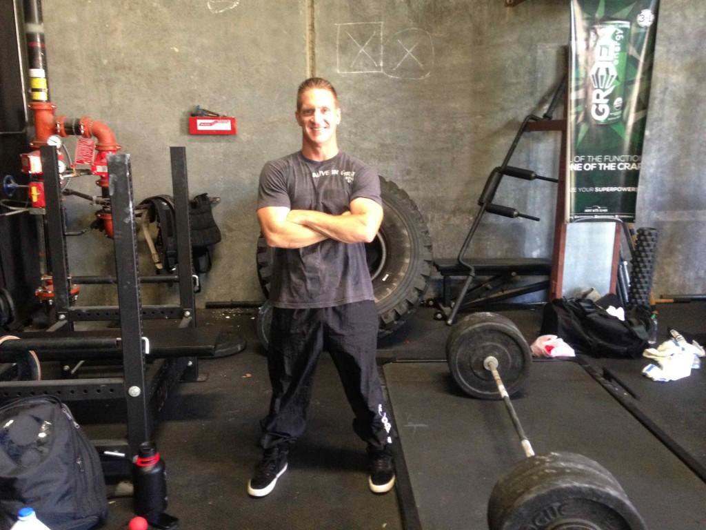 Matthew Chapman smiling in the gym
