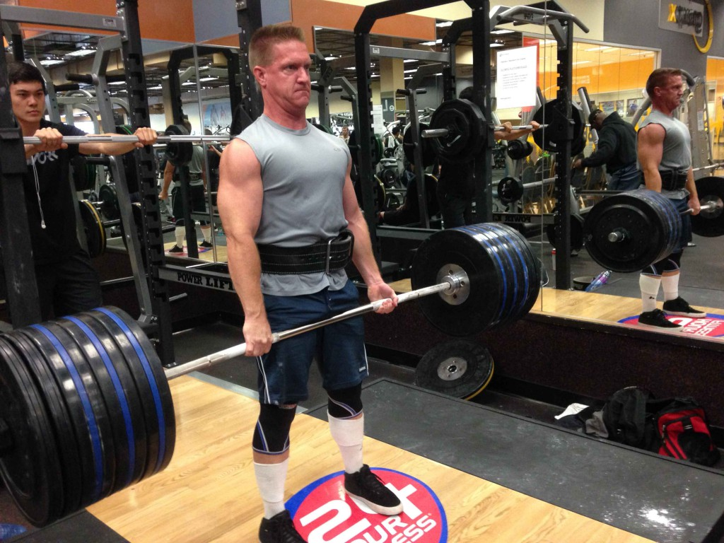Matthew Chapman working out in the gym