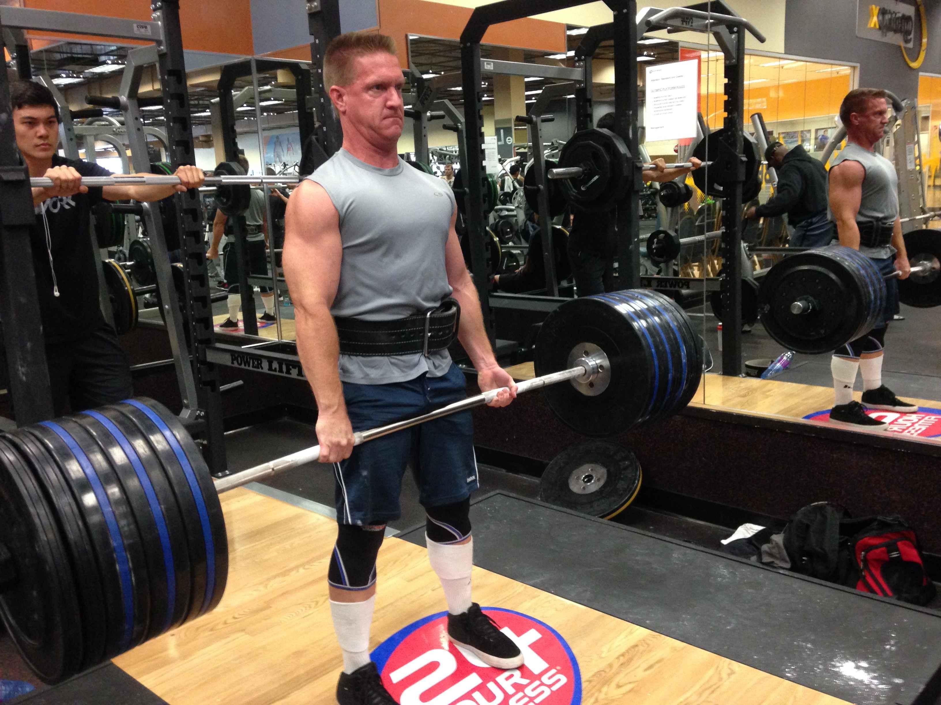 Matthew Chapman exercising in gym