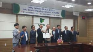Group photo taken at Tongmyong University