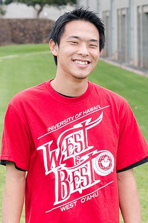 Ken Tom wearing his winning West is Best T-shirt