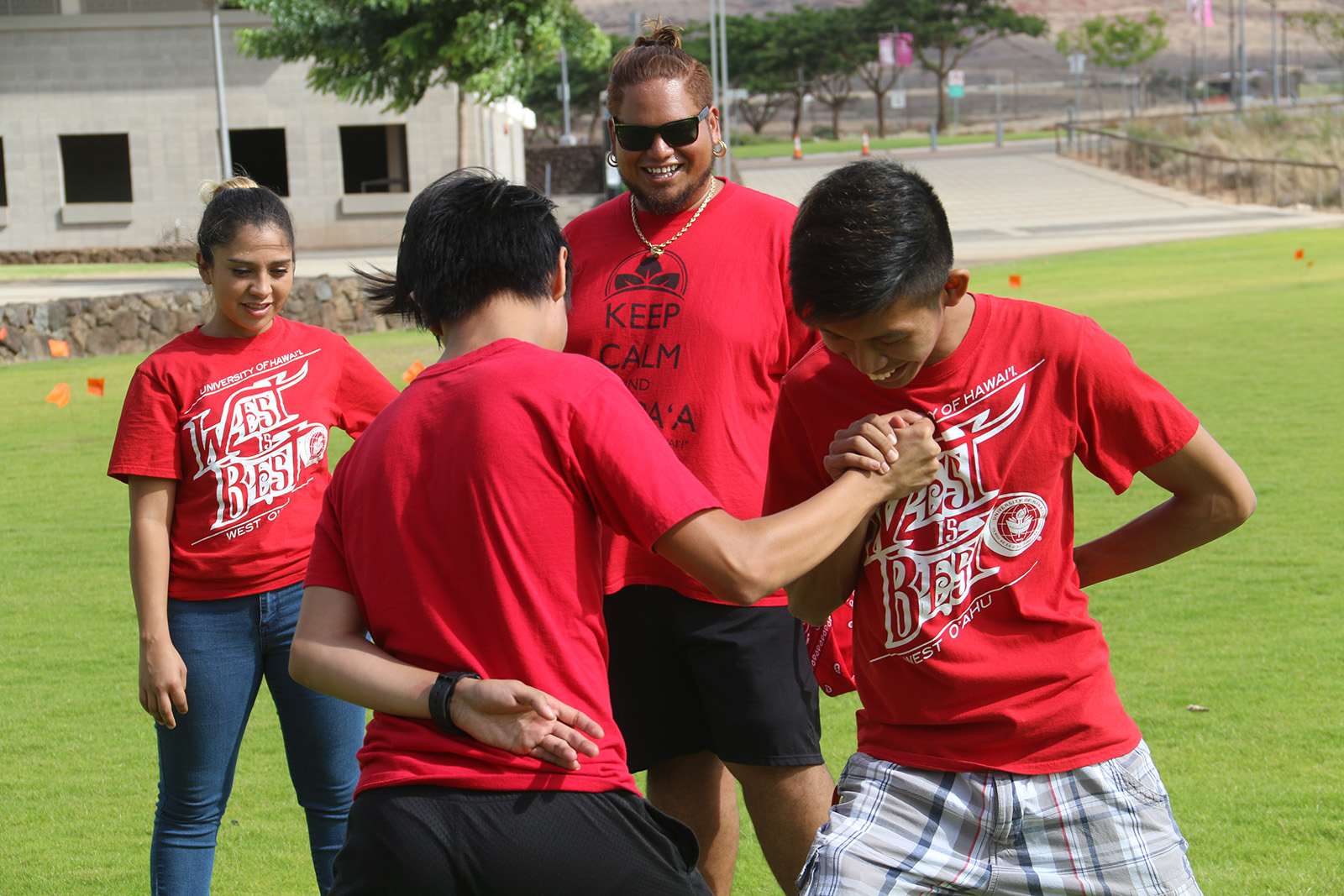 Onipaʻa Summer Bridge students participating in Makahiki games