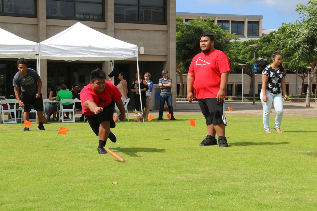 Onipaʻa Summer Bridge student participating in Makahiki games.