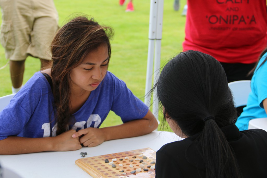 Onipaʻa Summer Bridge students participating in Makahiki games.