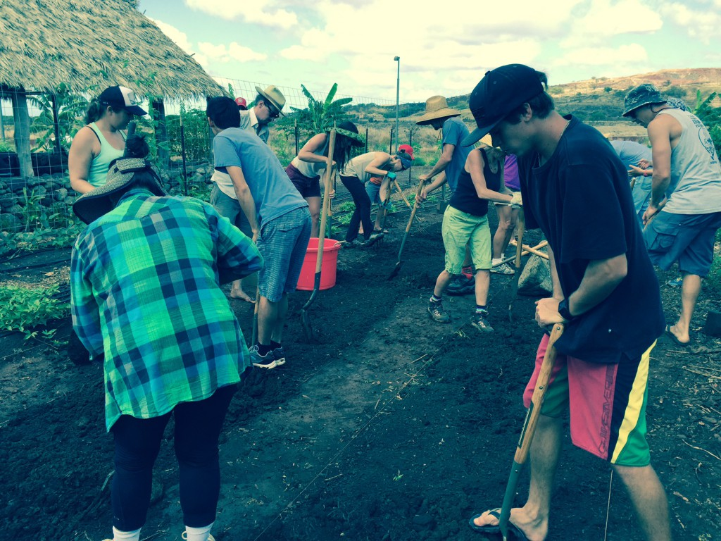 UHWO Student Organic Garden crew