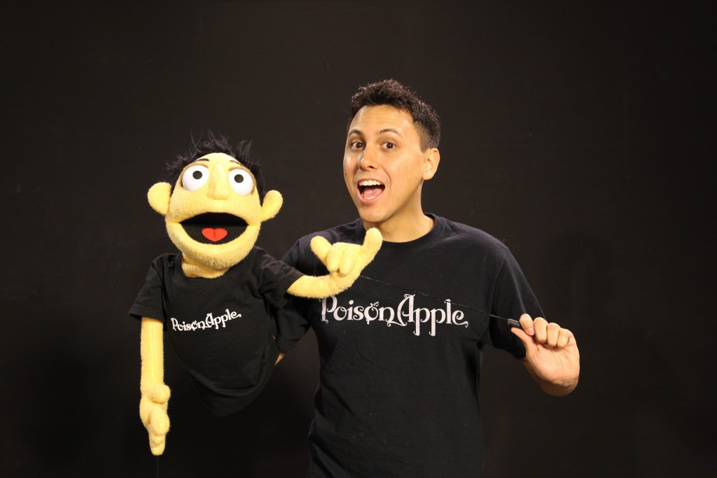 Dane Neves and puppet from Poison Apple