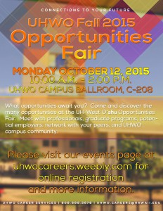 Fall 2015 Opportunities Fair