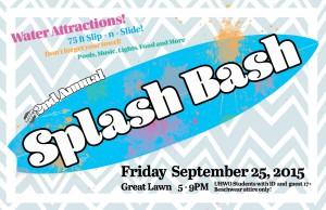 Splash Bash flyer