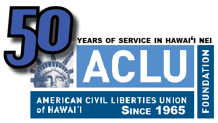 ACLU of Hawaii 50th logo