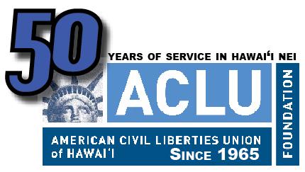 ACLU of Hawaii 50th logo