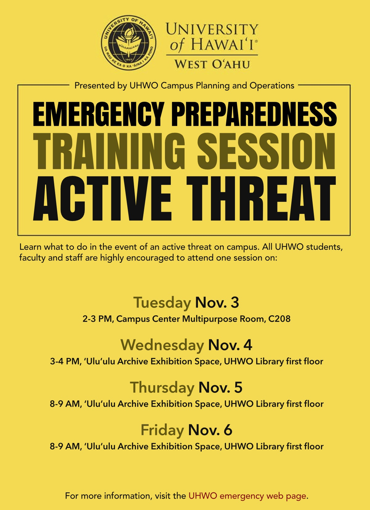 Active Threat Training Flyer