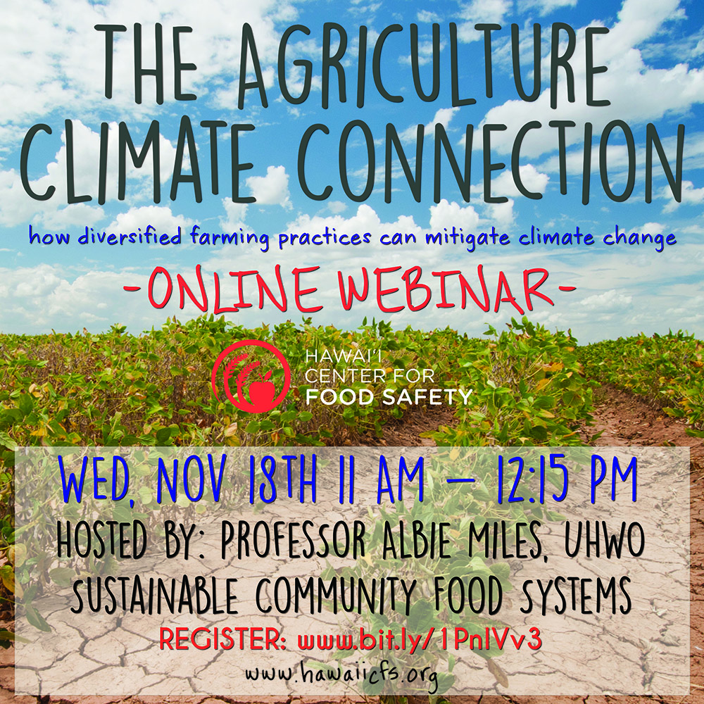 The Agriculture Climate Connection
