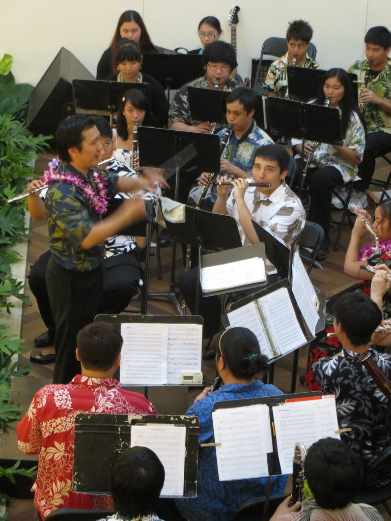 UHWO band at Ala Moana Center Stage