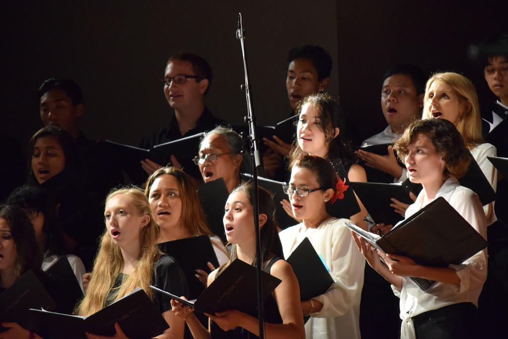 University Chorus 2015 winter concert