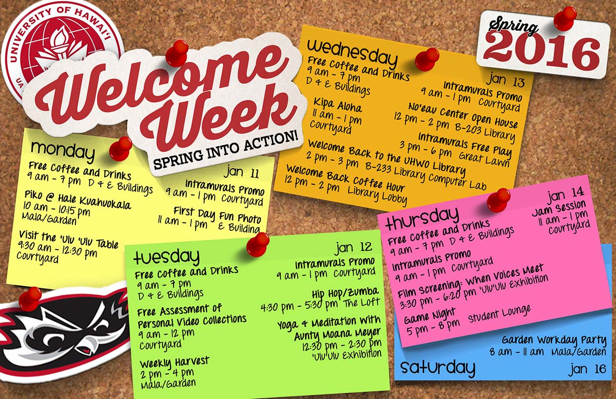 Spring 2016 Welcome Week