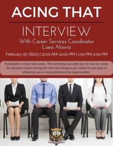 Acing that Interview