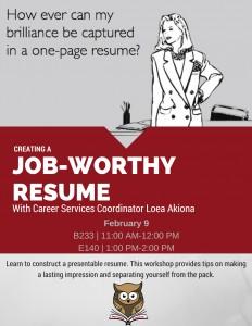 creating a job worthy resume