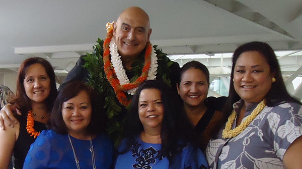 Rockne Freitas with UHWO Staff