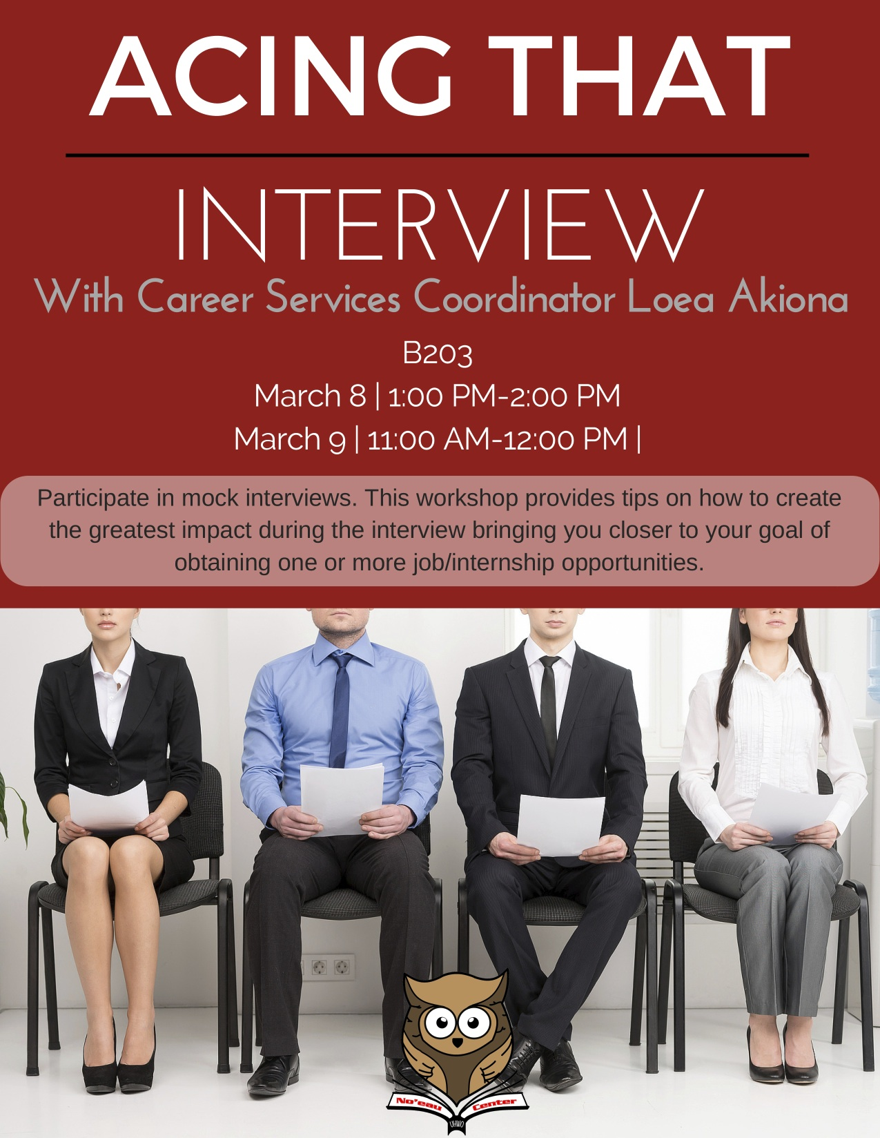 Acing that Interview (March 8 and 9)