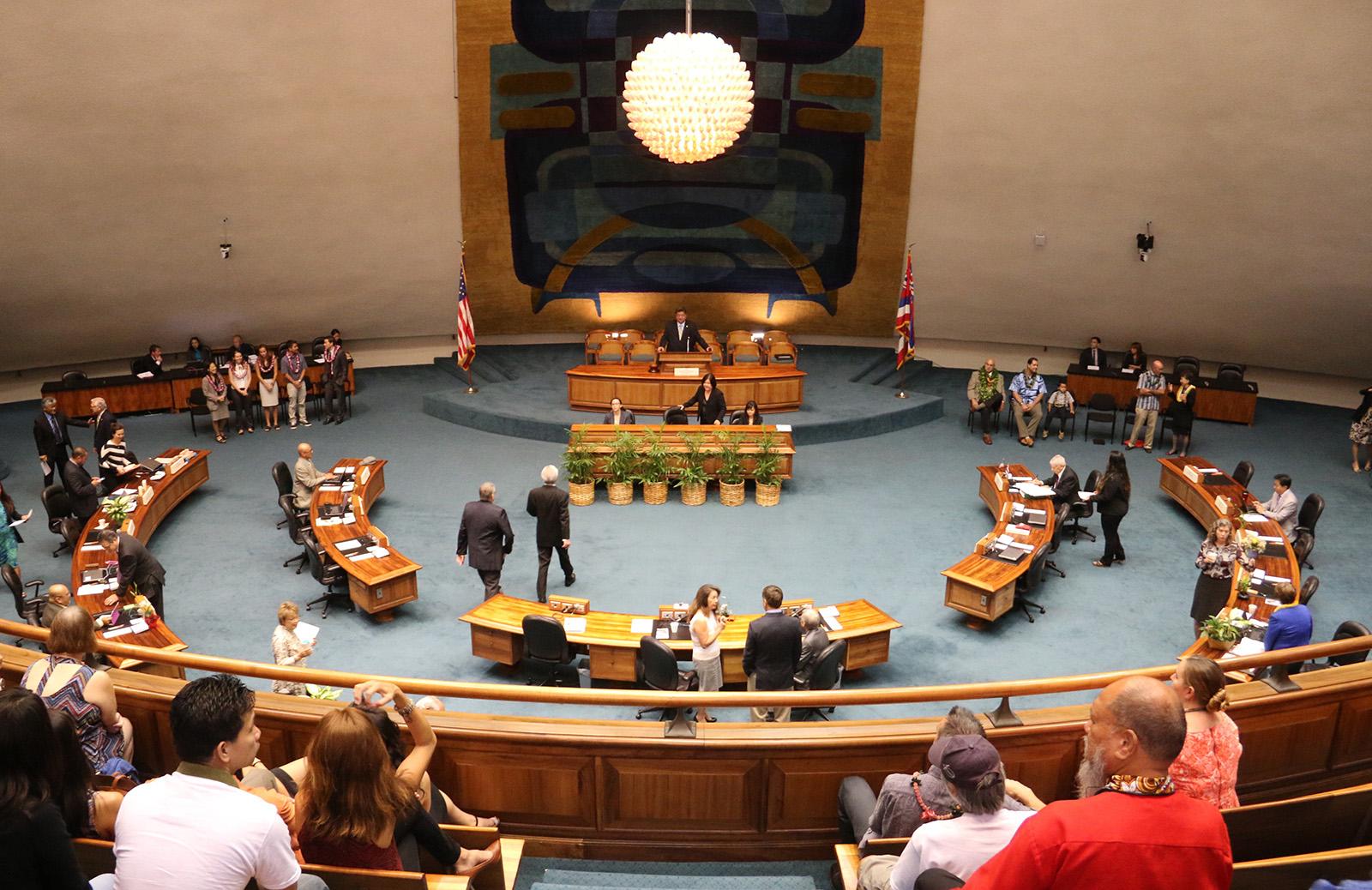 Hawai'i State Senate Chamber floor