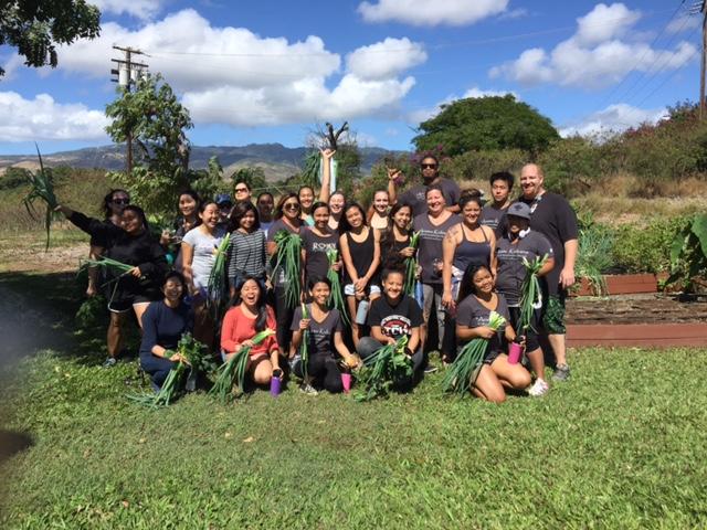 UH West Oʻahu ʻIke Mauli Ola Pre-nursing Pathway students at Queens Hospital - West Oʻahu