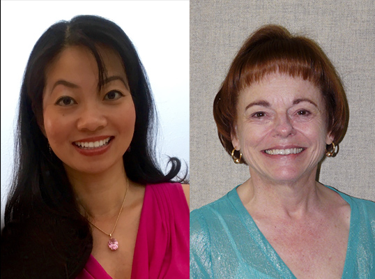 From left to right: Professor of Health Care Administration Kristina Guo, Assistant Professor of Health Care Administration Susan Young