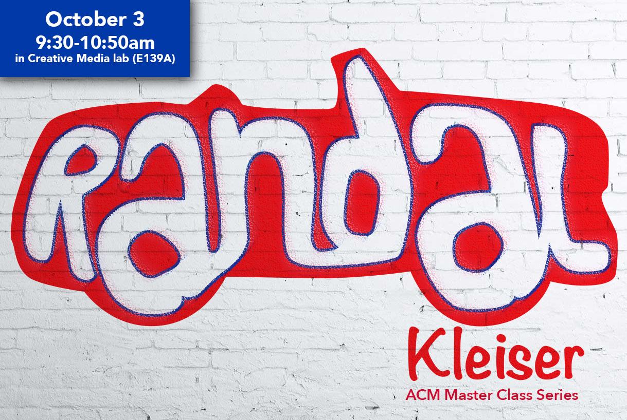 Randal Kleiser coming October 3rd