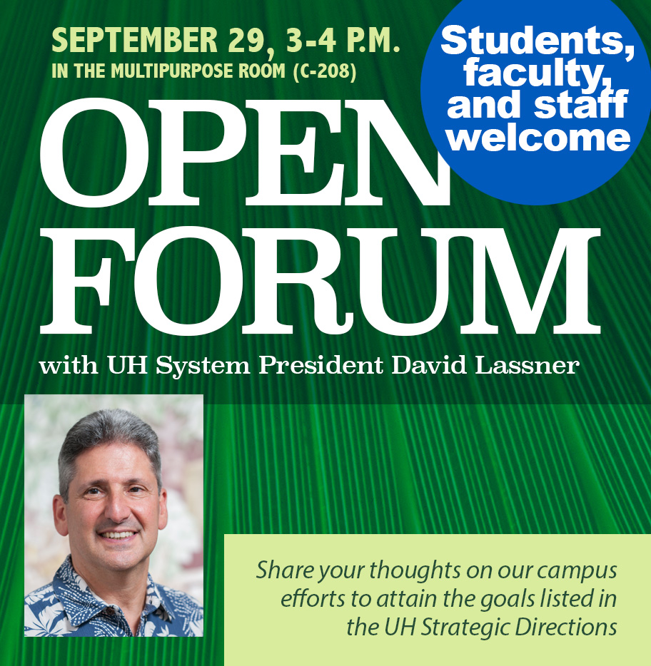 Open Forum with David Lassner