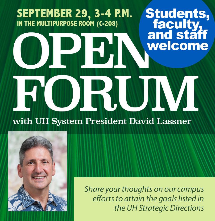 Open Forum with David Lassner
