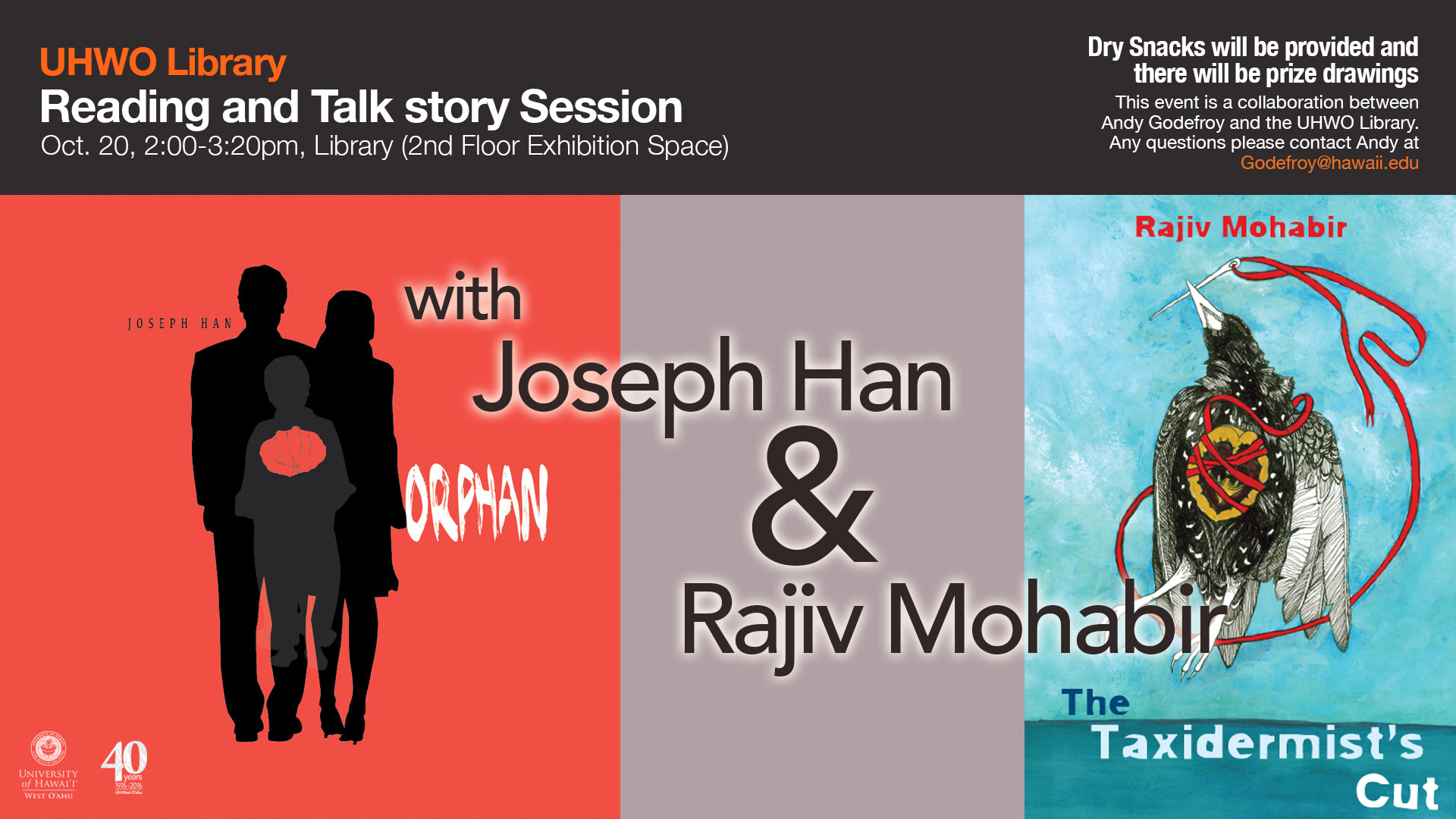 Library Reading & Talk Story Session with Joseph Han and Rajiv Mohabir