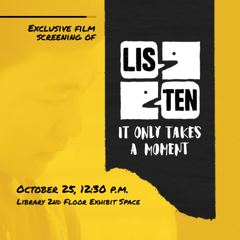 It Only Take A Moment: Listen film screening event