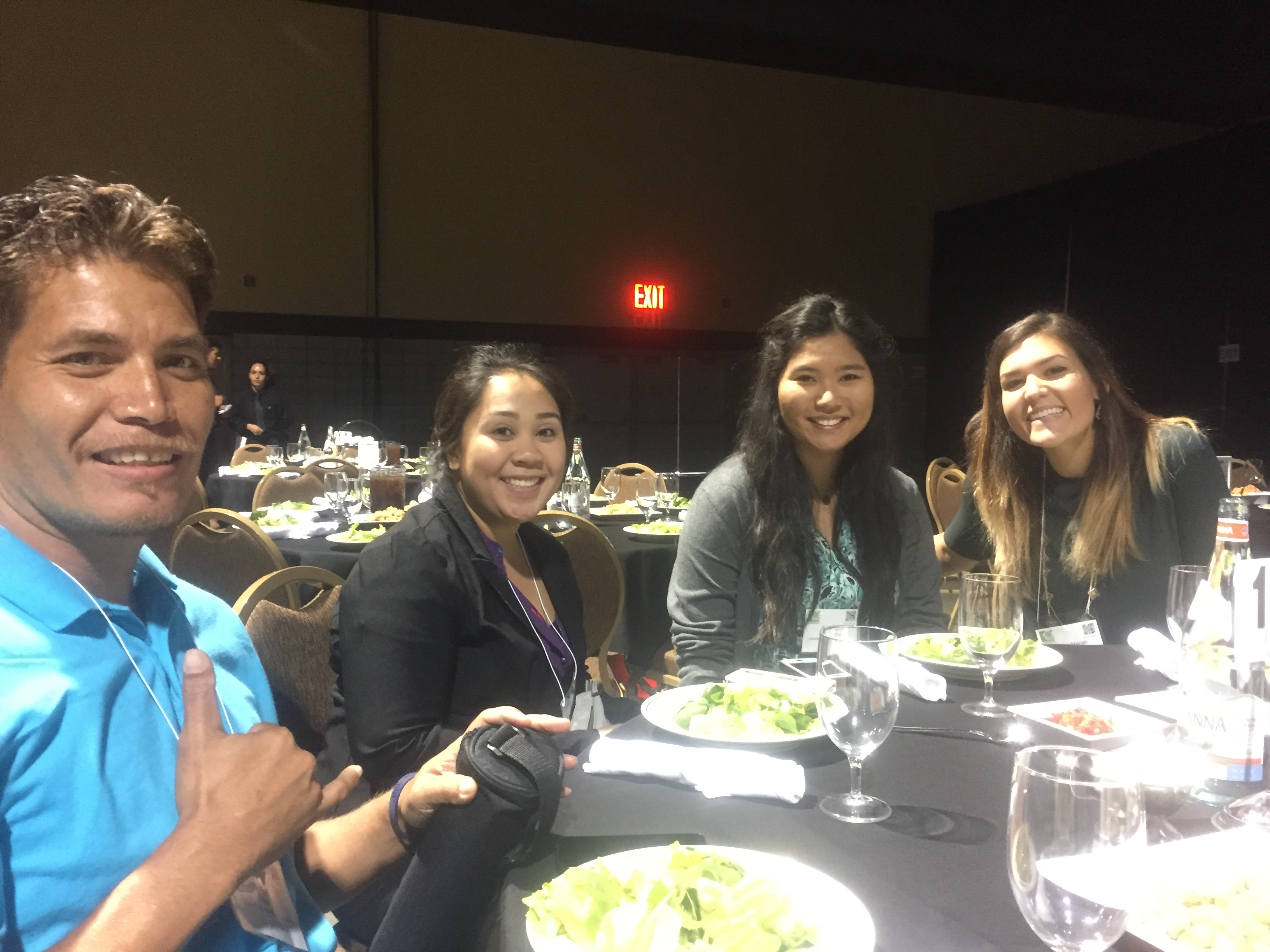 rom left to right: Shane Yaw, Christine Joy Baltazar, Rebecca Oshiro, and Ashley Mariah Lacefield Rodriguez at the SACNAS Conference in October 2016.