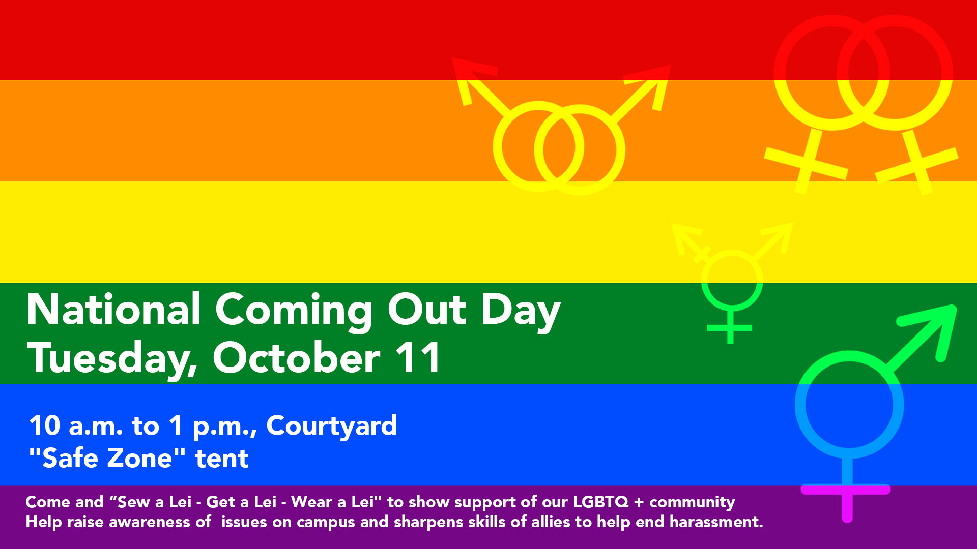 National Coming Out Day, October 11.