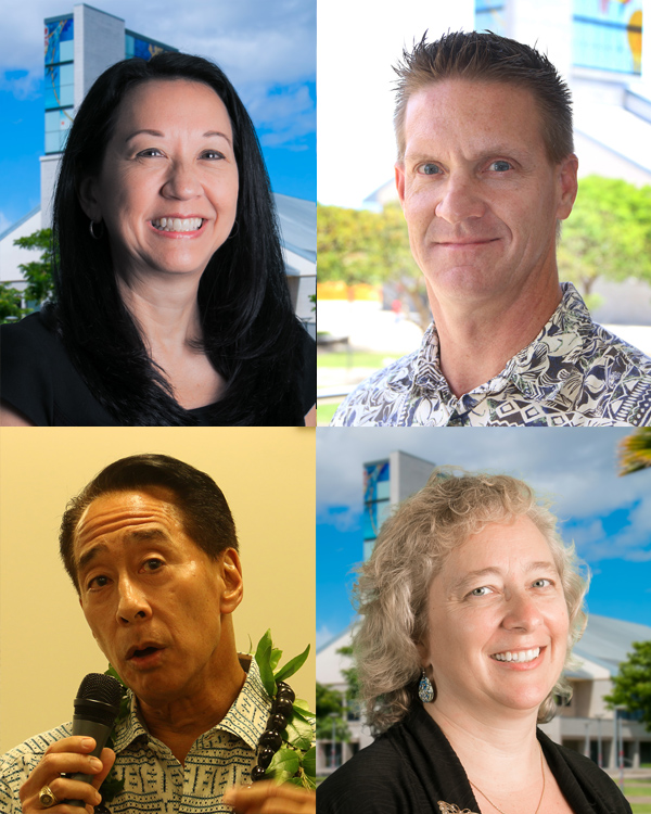 Image of four tenured UHWO faculty