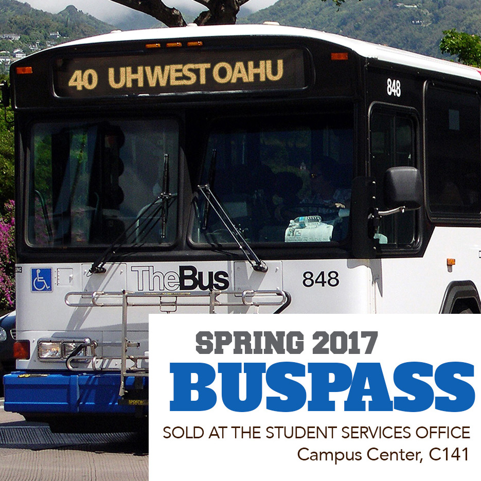 U-Pass Buss Pass on sale for Spring 2017