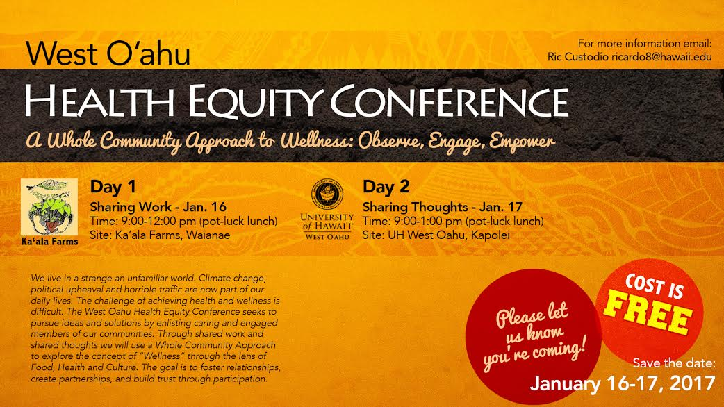 Health Equity Conference, Jan. 16 and 17