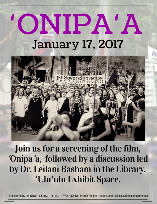 Onipa'a Film screening poster