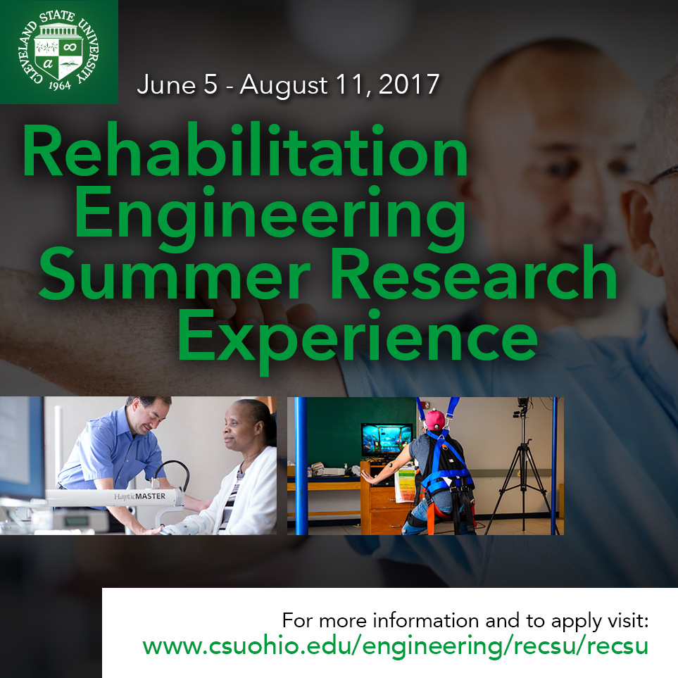Rehabilitation Engineering Summer Research Experience at CSU