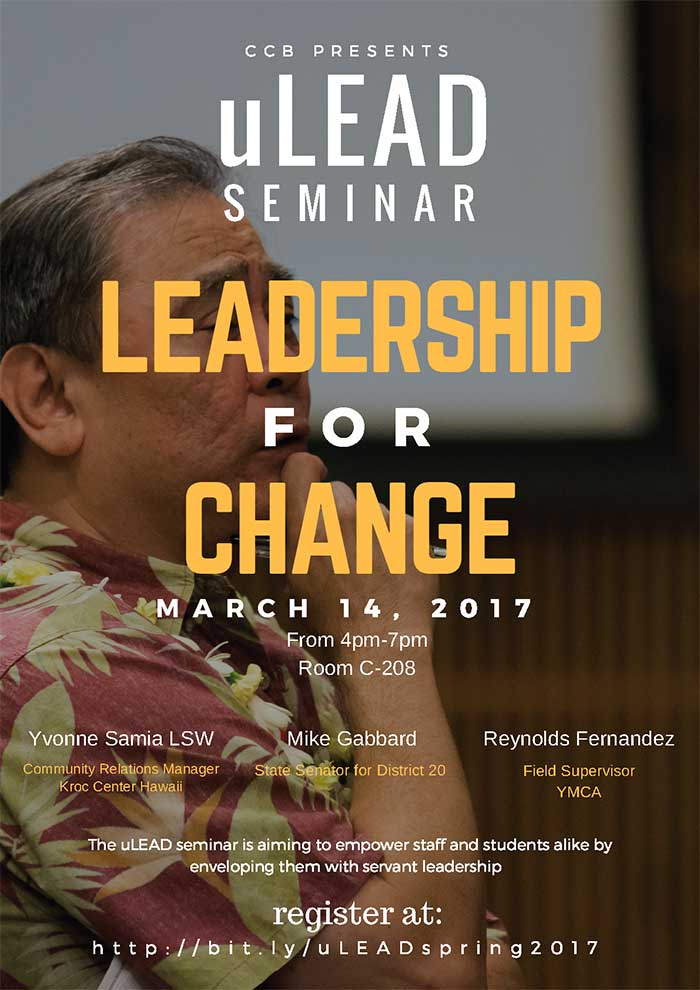 uLEAD Seminar, March 14