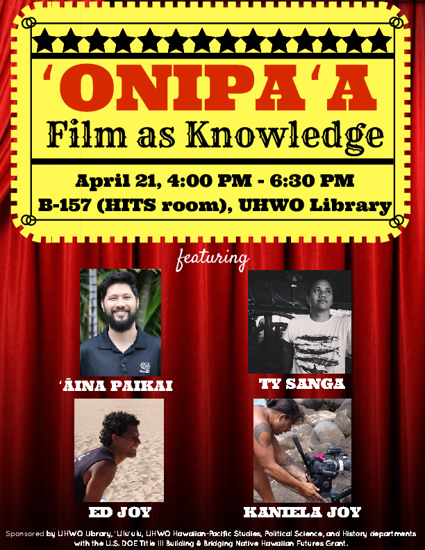'Onipa'a Film as Knowledge flyer