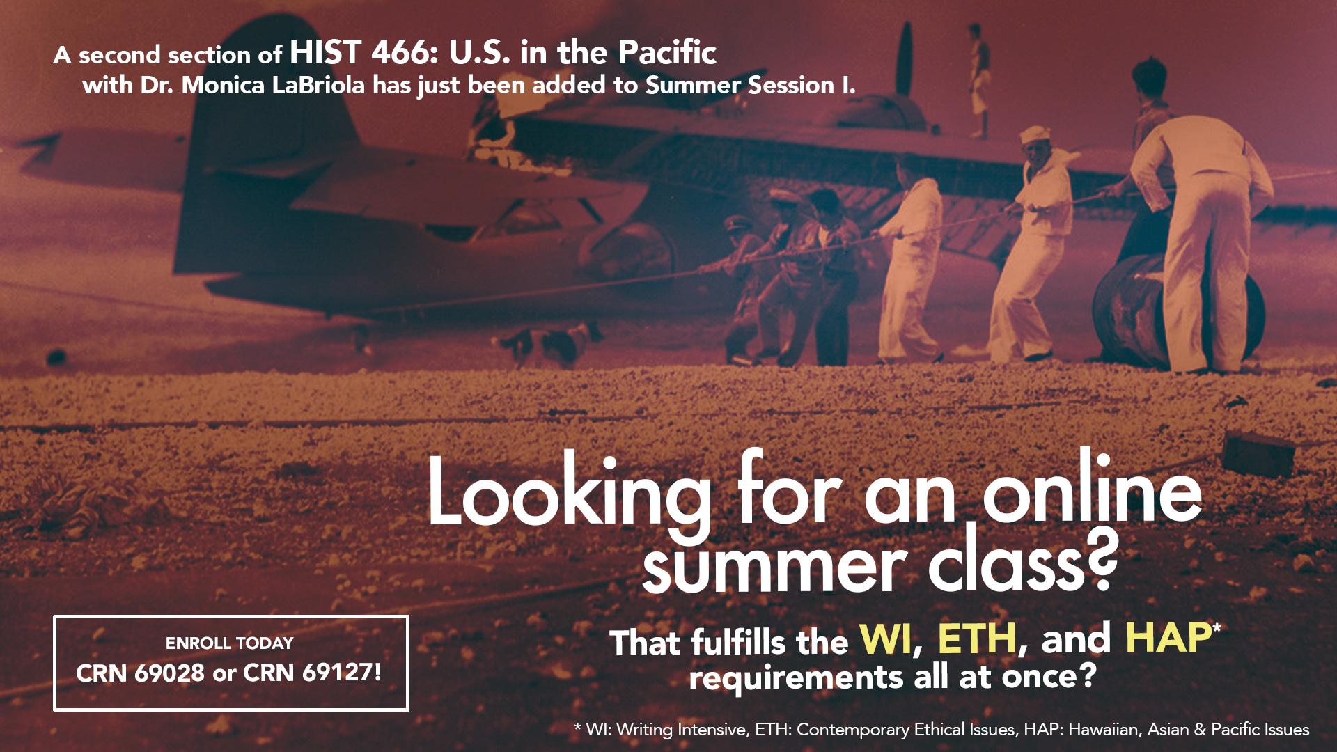 HIST 266 Summer Session I flyer