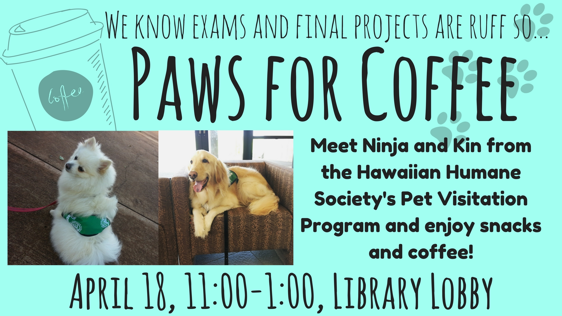 Paws for Coffee flyer