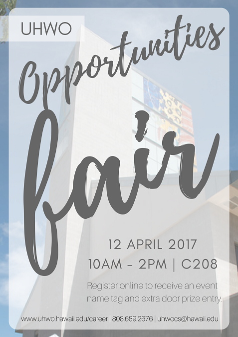 Spring Opportunities Fair, April 12, 2017