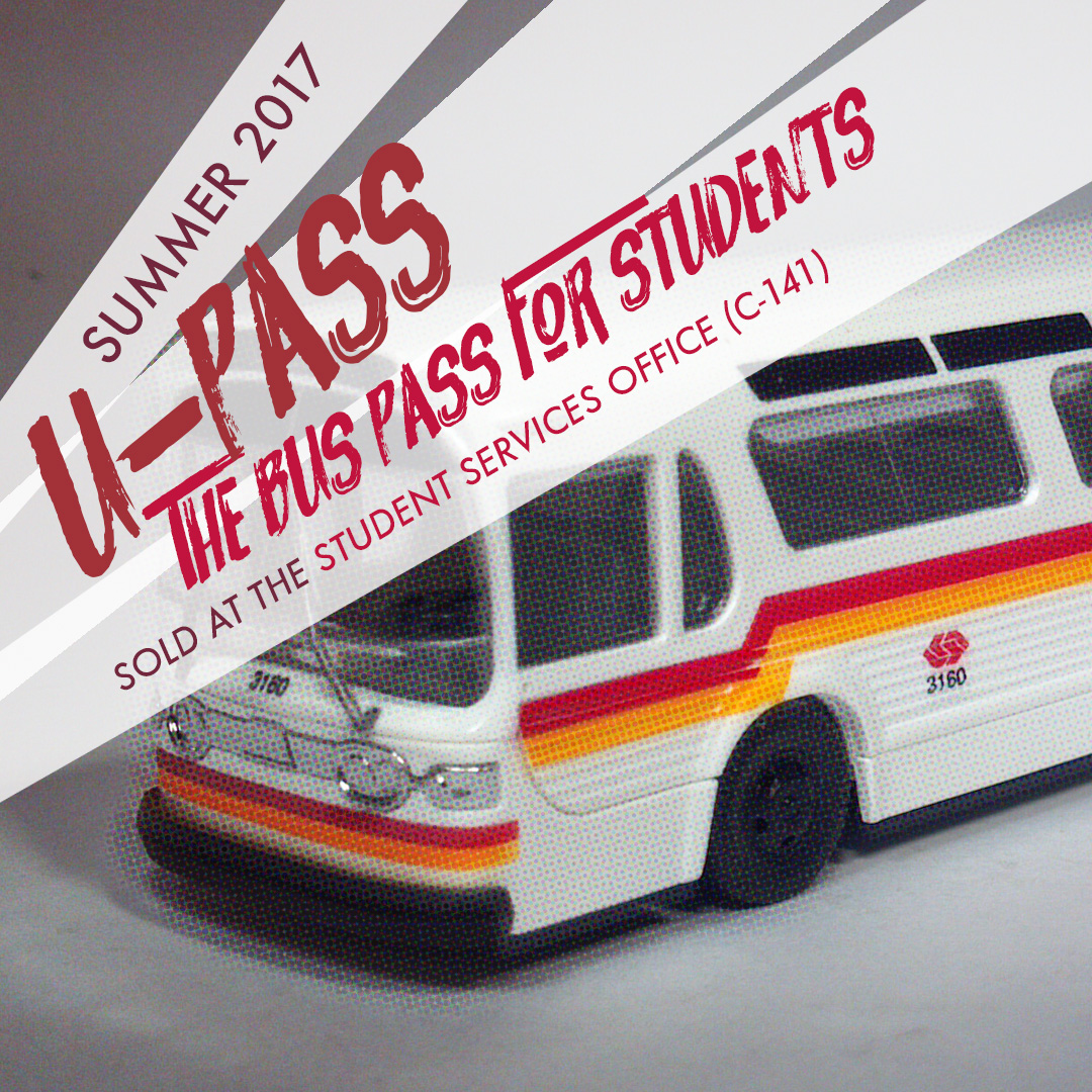 U-Pass Summer 2017 flyer