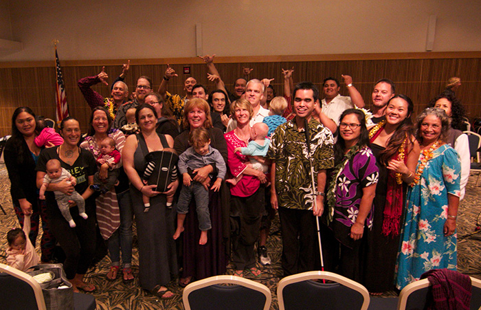 Mothers and musicians at the Lullaby Project held at UH West O'ahu.